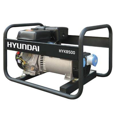 HYK8500 Generador Hyundai Gasolina Serie Rental Monofásico