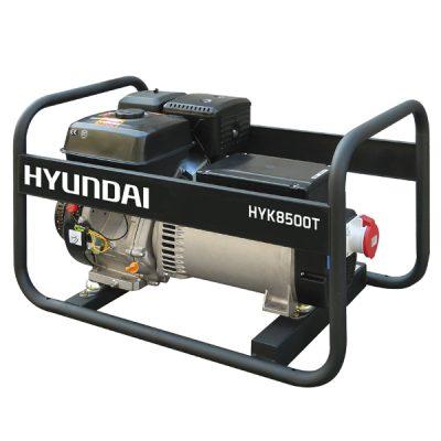 HYK8500T Generador Hyundai Gasolina Serie Rental Trifásico