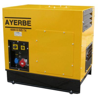 AY-6000 D INS TX E Generador Insonorizado Ayerbe Motor Lombardini