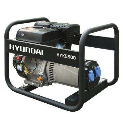 HYK5500 Generador Eléctrico Hyundai Motor Gasolina Serie Rental Salida Monofásica 5,8 KVA
