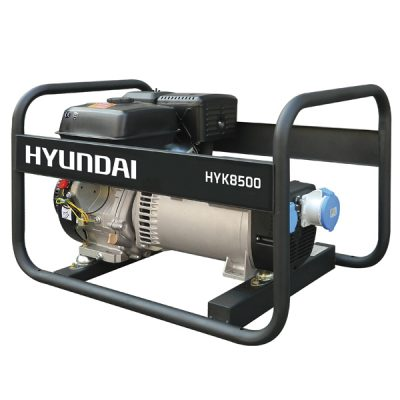 HYK8500 Generador Eléctrico Hyundai Motor Gasolina Serie Rental Salida Monofásica 7,7 KVA