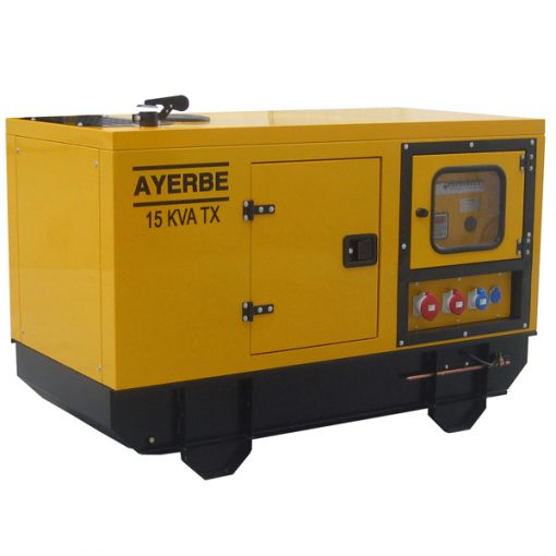 AY-1500-15 TX LOMB Grupo Electrógeno Insonorizado Ayerbe Motor Lombardini