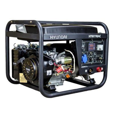 HYW190AC Motosoldadora Hyundai Gasolina Salida Monofásica Corriente Alterna 2,2 KW