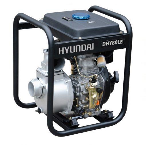 DHY80LE Motobomba Hyundai Diésel para Aguas Limpias