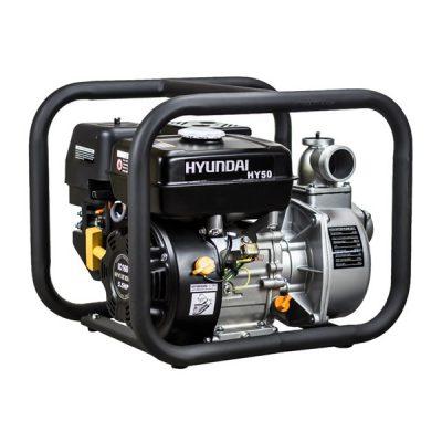 HY50 Motobomba Hyundai Motor Gasolina para Aguas Limpias Caudal 30m³/h altura 27m