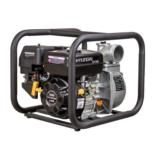 HY80 Motobomba Hyundai Gasolina para Aguas Limpias
