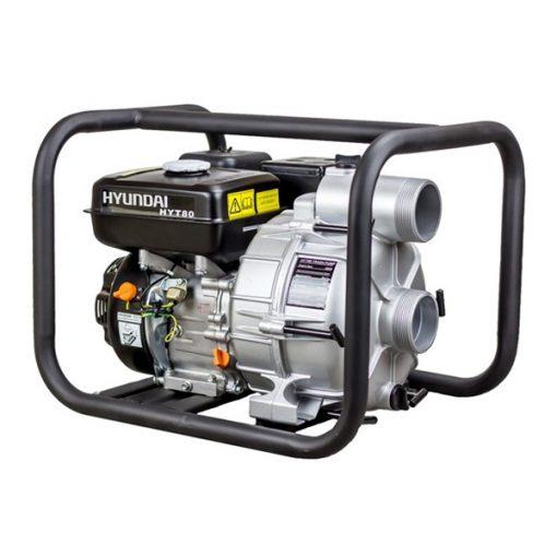 HYT80 Motobomba Hyundai Gasolina para Aguas Cargadas