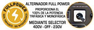 Sistema Full Power (100 % trifásico + 100% monofásico)